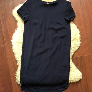 H&M Navy Short Sleeve Shift Dress- Size 2